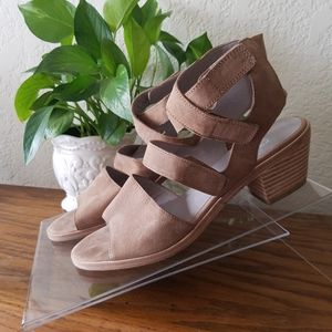 Eileen Fisher Taupe Vessey Heeled Sandals